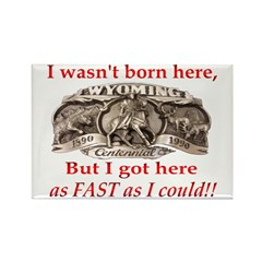 Not Born Here Rectangle Magnet (10 pack)