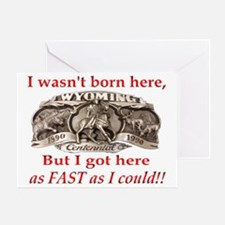 Not Born Here Greeting Card