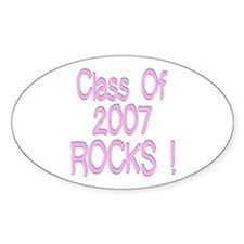 2007-pink Oval Decal