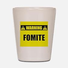 WARNING: Fomite Shot Glass
