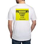 WARNING: Vet Student Under Pressure Fitted T-Shirt
