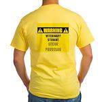 WARNING: Vet Student Under Pressure Yellow T-Shirt