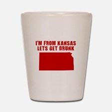 KANSAS SHIRT DRINKING HUMOR B Shot Glass
