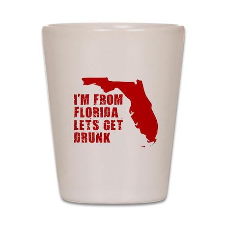 FUNNY FLORIDA SHIRT FLORIDA S Shot Glass