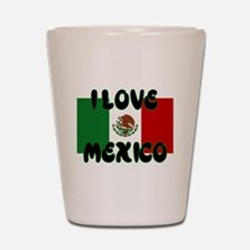 I LOVE MEXICO SHIRT TEE SHIRT Shot Glass