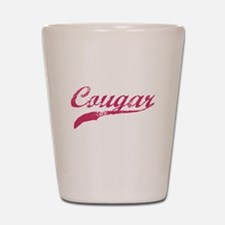 COUGAR SHIRT MILF MATURE SEXY Shot Glass