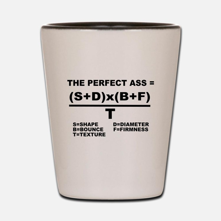 PERFECT ASS EQUATION SHIRT Shot Glass