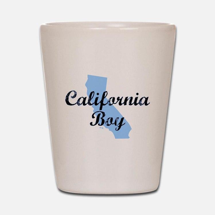 CALIFORNIA BOY SHIRT I LOVE C Shot Glass