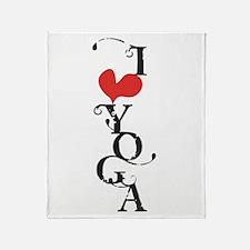 I heart YOGA Throw Blanket