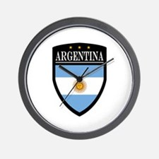 Argentina Flag Patch Wall Clock