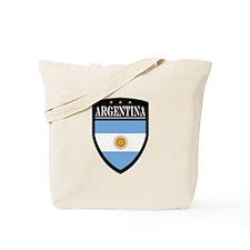 Argentina Flag Patch Tote Bag