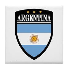 Argentina Flag Patch Tile Coaster