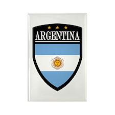 Argentina Flag Patch Rectangle Magnet