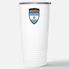 Argentina Flag Patch Travel Mug