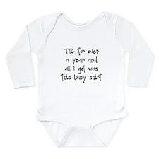 TTC Over A Year Long Sleeve Infant Bodysuit