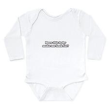 Cute Baby bump on belly Long Sleeve Infant Bodysuit