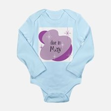 Due In May Retro Long Sleeve Infant Bodysuit