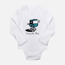 Coming This May Long Sleeve Infant Bodysuit