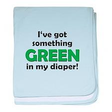 Green Diaper baby blanket