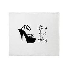 Shoe Thing Throw Blanket