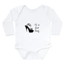 Shoe Thing Long Sleeve Infant Bodysuit