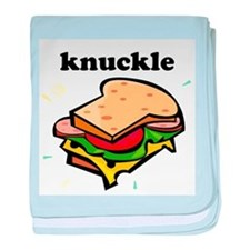 Knuckle Sandwich baby blanket