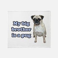 Big Brother Pug Throw Blanket