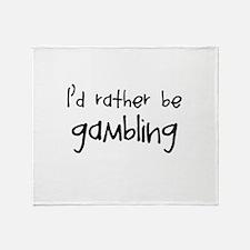 Gambling Throw Blanket