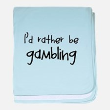 Gambling baby blanket