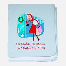 Master and Visa baby blanket