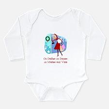 Master and Visa Long Sleeve Infant Bodysuit