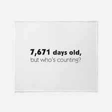 21st Birthday Throw Blanket