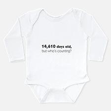 40th Birthday Long Sleeve Infant Bodysuit
