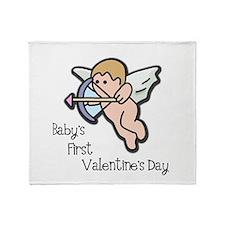 Baby's First Valentine's Day Throw Blanket