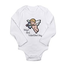 Baby's First Valentine's Day Long Sleeve Infant Bo