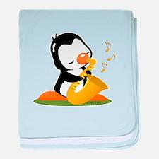 Popo Plays Saxophine baby blanket
