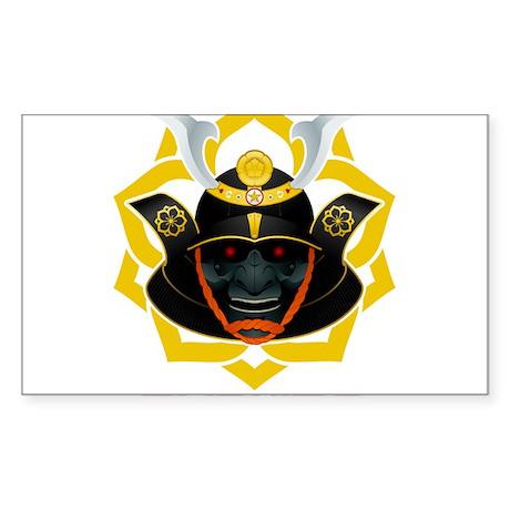 demon samurai Sticker (Rectangle 10 pk)