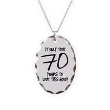 70 Looks Good Necklace Oval Charm