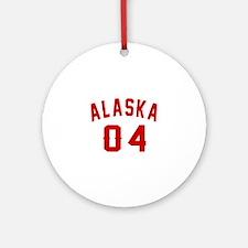 Alaska 04 Birthday Designs Round Ornament