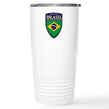 Brasil Flag Patch Travel Mug