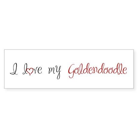 I Love My Goldendoodle Sticker (Bumper)