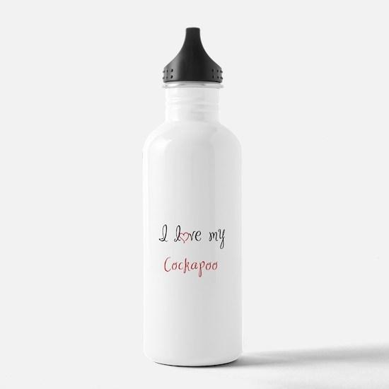 I Love My Cockapoo Water Bottle