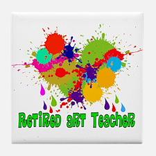 Retired Teacher 2 Tile Coaster