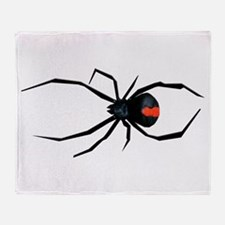 Redback Spider Throw Blanket