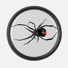 Redback Spider Large Wall Clock