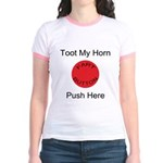 Fart Button Toot My Horn Ligh Jr. Ringer T-Shirt