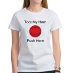 Fart Button Toot My Horn Ligh Women's T-Shirt