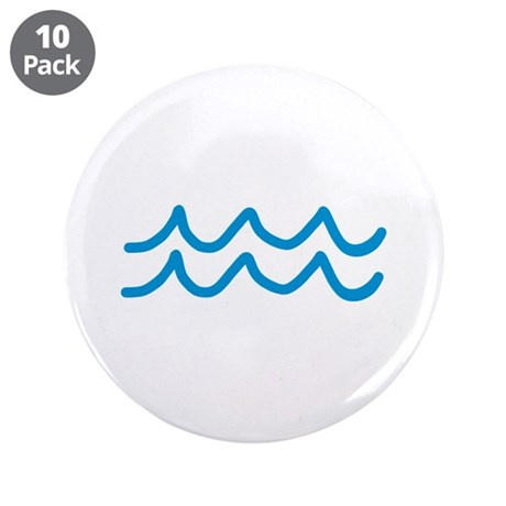 """Waves 3.5"""" Button (10 pack)"""