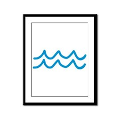 Waves Framed Panel Print