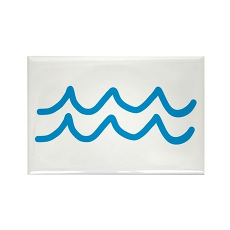 Waves Rectangle Magnet